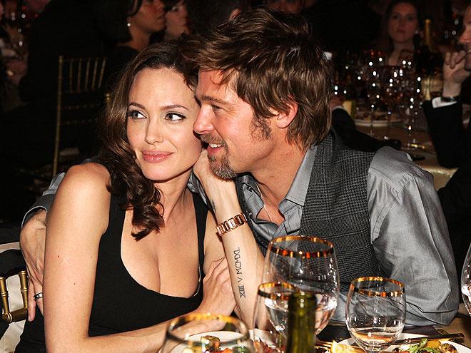 SWEET CHEEKS  photo | Angelina Jolie, Brad Pitt