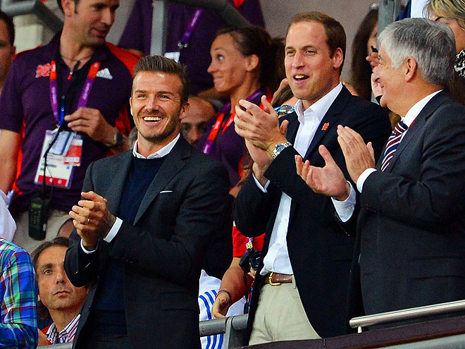 DAVID BECKHAM & PRINCE WILLIAM photo | David Beckham