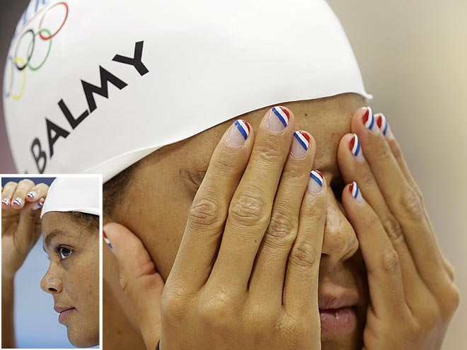 coralie balmy 660 Olympic Medal Winning Nail Art