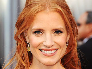 10 Best Beauty Looks of Awards Season '12 | Jessica Chastain