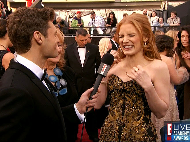  photo | Jessica Chastain, Ryan Seacrest