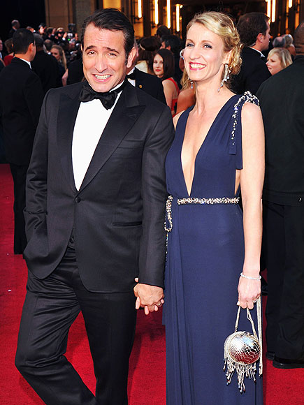 Oscars 2012 most adoring couples justin bieber and for Dujardin christophe