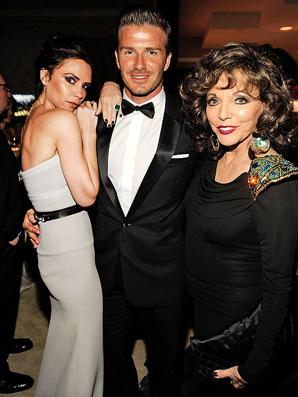 BRITISH DYNASTY photo | David Beckham, Joan Collins, Victoria Beckham