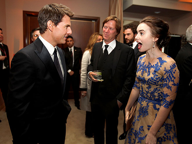 FANDEMONIUM photo | Lily Collins, Tom Cruise