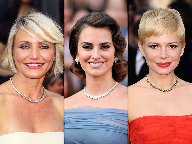 DIAMOND CHOKERS photo | Cameron Diaz, Michelle Williams, Penelope Cruz