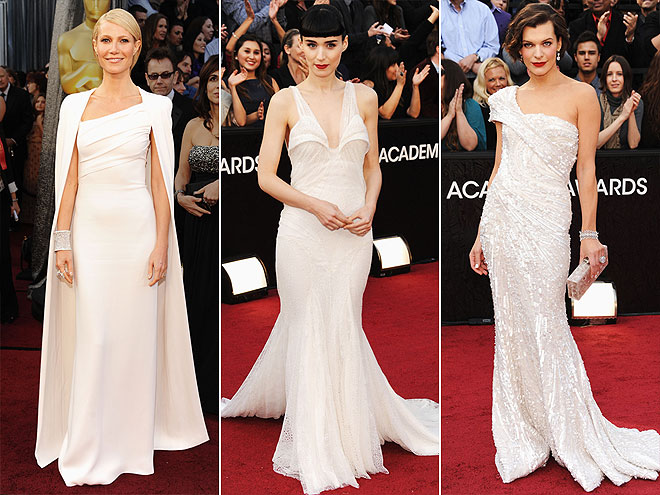 ICY WHITE GOWNS photo | Gwyneth Paltrow, Milla Jovovich, Rooney Mara