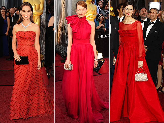 RED BALL GOWNS photo | Emma Stone, Natalie Portman