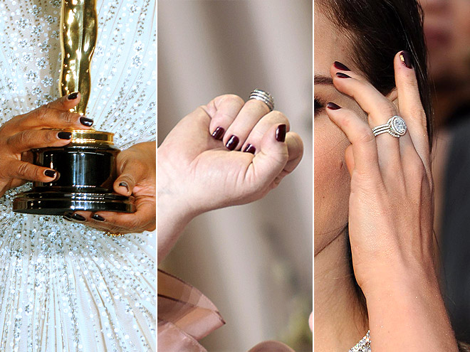 DEEP MAROON NAILS