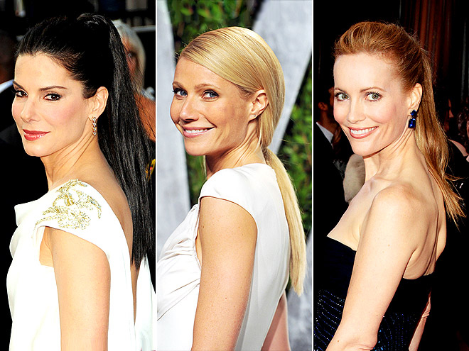 PONYTAILS photo | Gwyneth Paltrow, Leslie Mann, Sandra Bullock