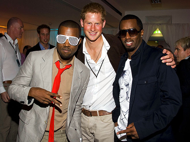 11. HAVE AN ENTOURAGE photo | Kanye West, Prince Harry, Sean \P. Diddy\ Combs