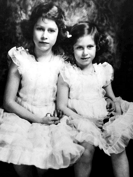 Елизавета с сестрой Маргарет