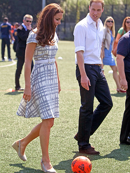 EYE ON THE BALL photo | Kate Middleton, Prince William
