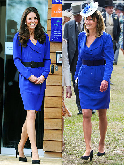 BLUE BELLES   photo | Carole Middleton, Kate Middleton