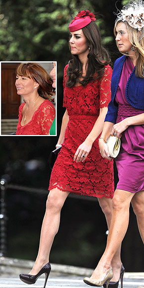LADIES IN RED  photo | Carole Middleton, Kate Middleton