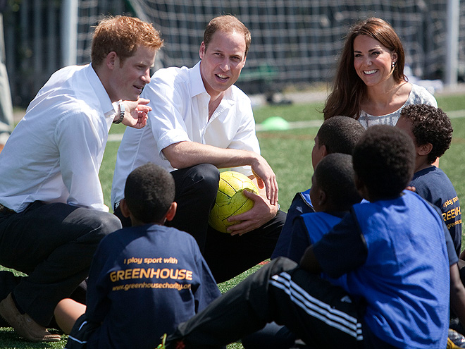 GOOD SPORTS photo | Kate Middleton, Prince Harry, Prince William