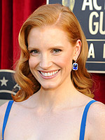 10 Head-Turning Hairdos at the 2012 SAG Awards | Jessica Chastain