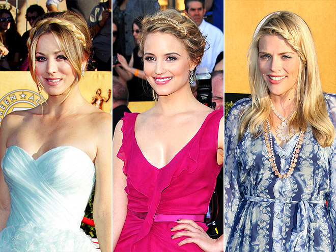 BRAIDED HEADBANDS photo | Busy Philipps, Dianna Agron, Kaley Cuoco