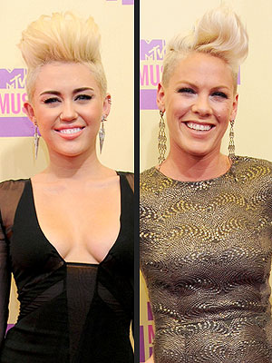 Pink, Miley Cyrus Hair VMAs