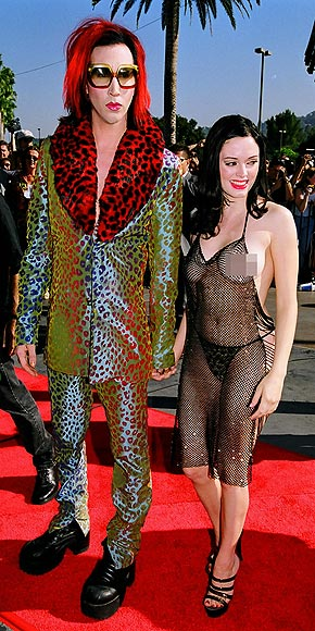 Rose McGowan and marilyn manson