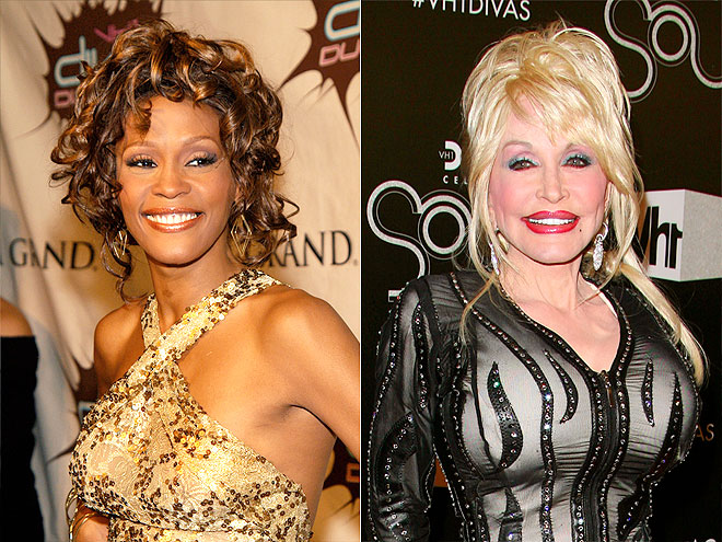 pictures of Dolly parton and Whitney Houston