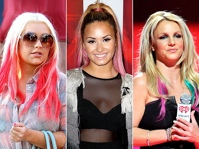 HOTTEST HAIR LOOK: DIP-DYED ENDS photo | Britney Spears, Christina Aguilera, Demi Lovato