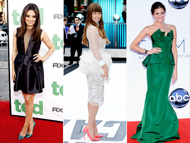 TREND THAT WAS EVERYWHERE: PEPLUM photo | Allison Williams, Jessica Biel, Mila Kunis