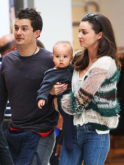 FIRST CLASS FAMILY  photo | Miranda Kerr, Orlando Bloom