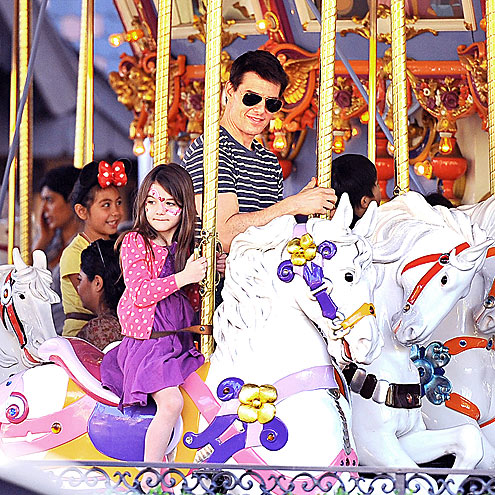 HORSING AROUND photo | Suri Cruise, Tom Cruise
