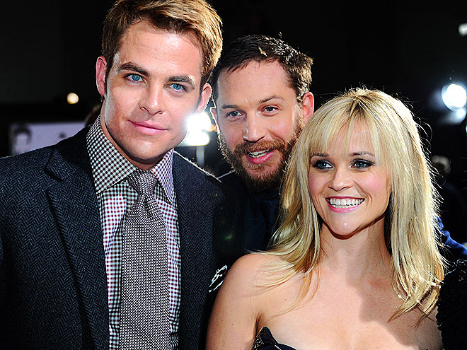 THREE'S COMPANY  photo | Chris Pine, Reese Witherspoon, Tom Hardy