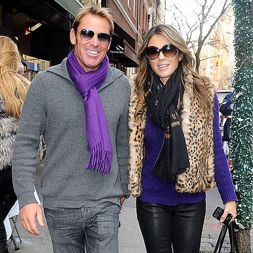 PERFECT MATCH photo | Elizabeth Hurley, Shane Warne