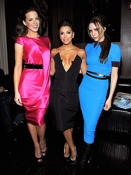 THREE NON-BLONDES photo | Eva Longoria, Kate Beckinsale, Victoria Beckham