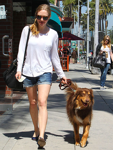 DOGGIE DUTIES    photo | Amanda Seyfried