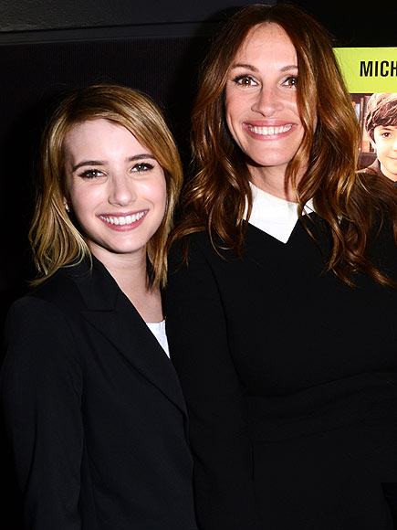 GRIN BIG   photo | Emma Roberts, Julia Roberts