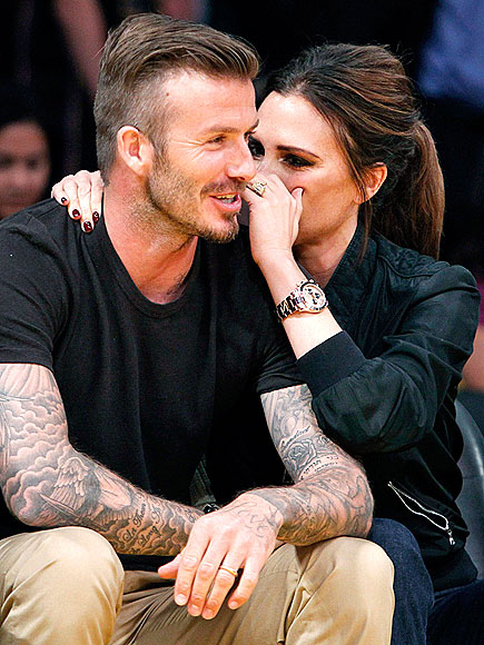 COURTSIDE PDA photo | David Beckham, Victoria Beckham