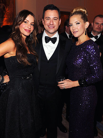 THREE's COMPANY photo | Jimmy Kimmel, Kate Hudson, Sofia Vergara