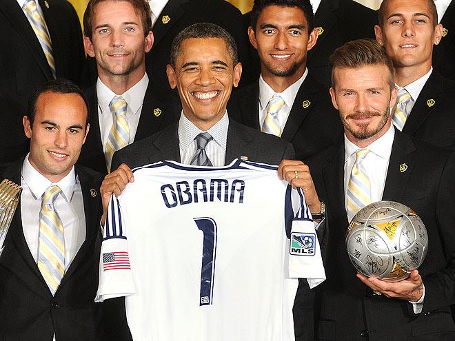 JERSEY BOY  photo | Barack Obama, David Beckham