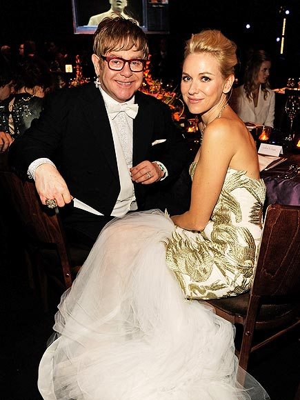 HAVING A 'BALL' photo | Elton John, Naomi Watts