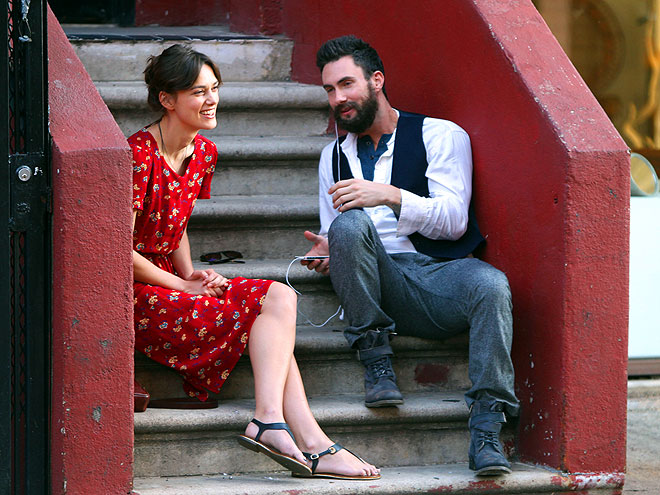 STOOP TALK? photo | Adam Levine, Keira Knightley