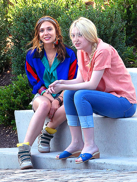 GIRL TALK photo | Dakota Fanning, Elizabeth Olsen