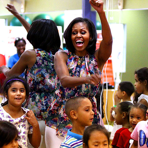 HAPPY FEET photo | Michelle Obama