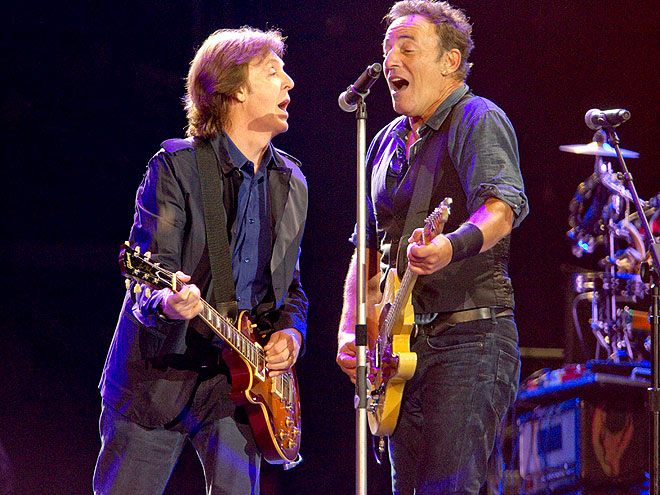 WHO'S THE BOSS? photo | Bruce Springsteen, Paul McCartney