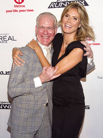 RED CARPET CUDDLE photo | Heidi Klum, Tim Gunn