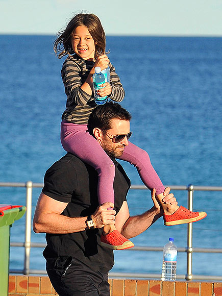 Daddy Duty by the Sea photo | Hugh Jackman