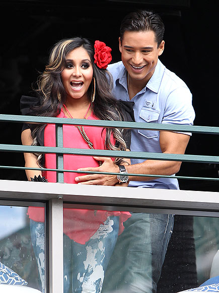 BELLY RUB photo | Mario Lopez, Nicole Polizzi