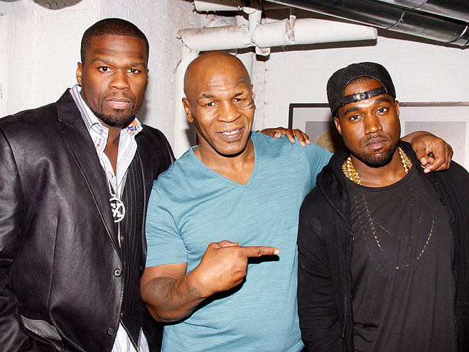 THREE'S A CROWD photo | 50 Cent, Kanye West, Mike Tyson