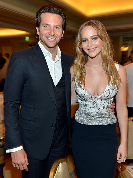 LUNCH MATES photo | Bradley Cooper, Jennifer Lawrence