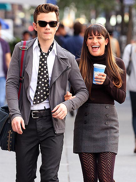 ON THE DOT photo | Chris Colfer, Lea Michele