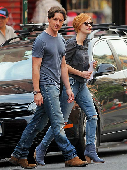 GOOD JEANS photo | James McAvoy, Jessica Chastain