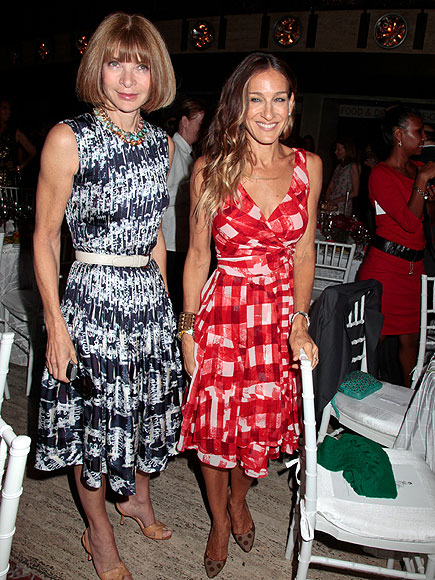 PATTERN PLAY photo | Anna Wintour, Sarah Jessica Parker