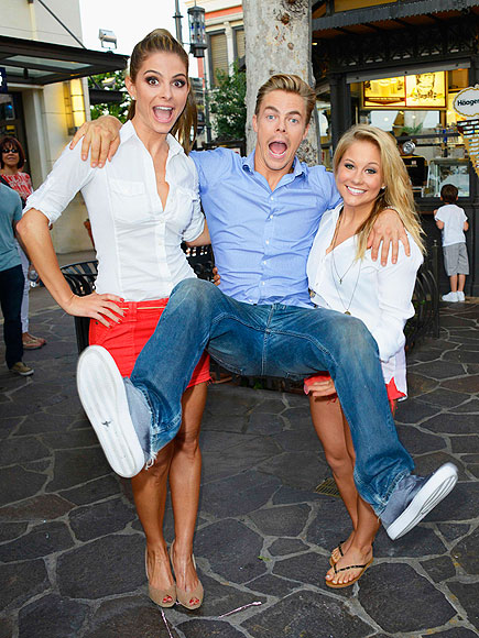 CARRIED AWAY photo | Derek Hough, Maria Menounos, Shawn Johnson